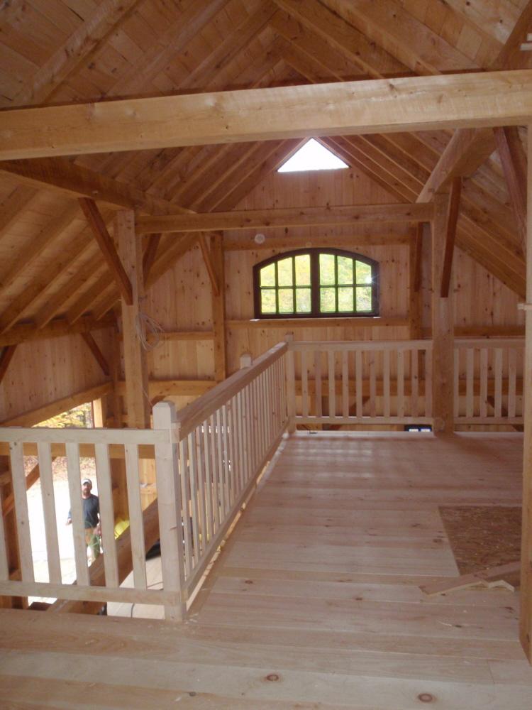 Timber Frame Barn Hartford Maine