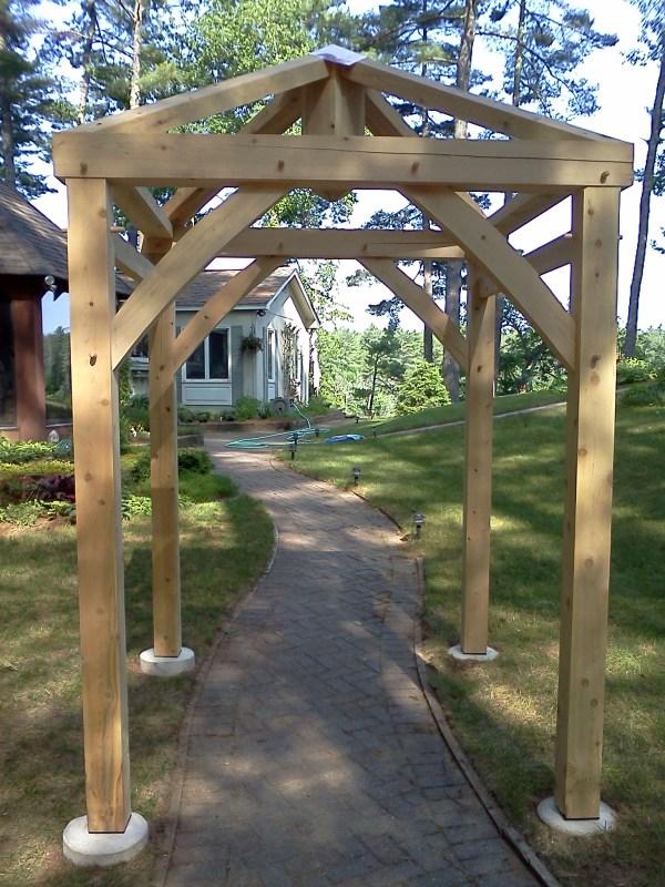 Hip Rafters Garden Arbor - Black Dog Timberworks