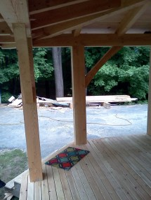 Timber Frame Farmers Porch - Black Dog Timberworks