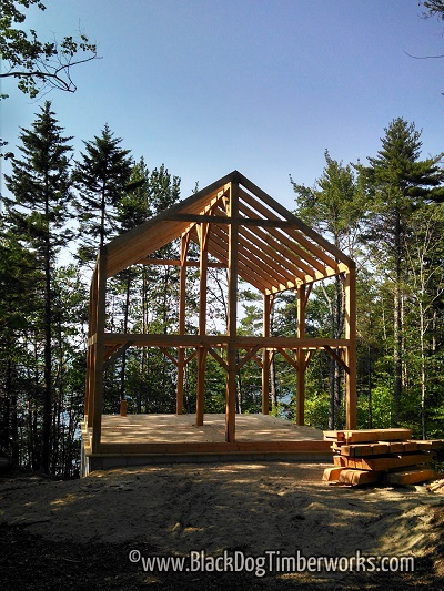 24 X 28 Timber Frame Residence Black Dog Timberworks
