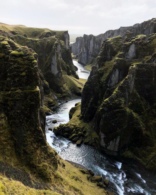 Fjadragljufur ringweg van IJsland