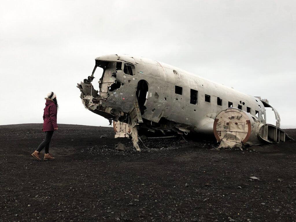 Vliegtuigwrak IJsland Solheimasandur