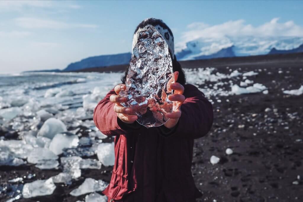 IJsland Diamond Beach-ijs