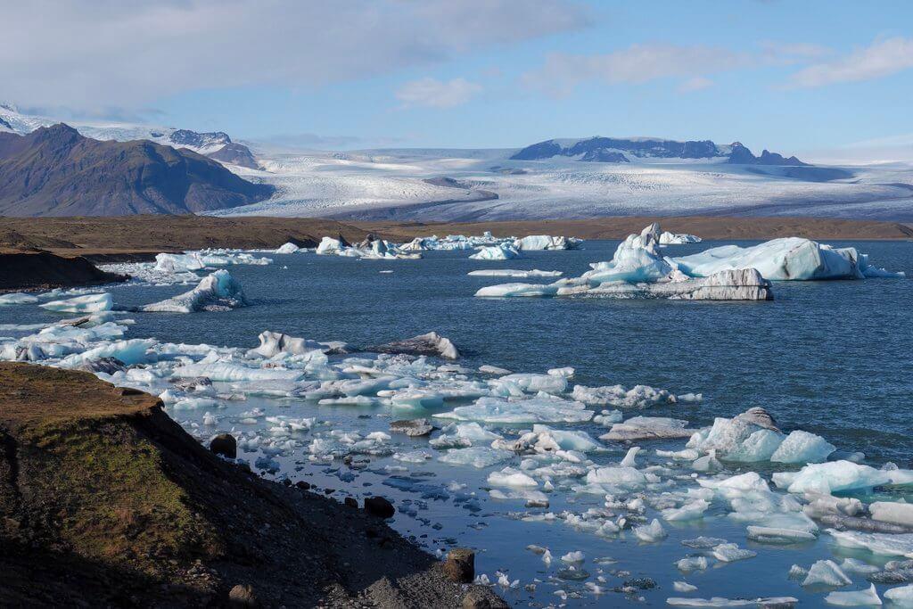 De ringweg van IJsland Jokullsarlon
