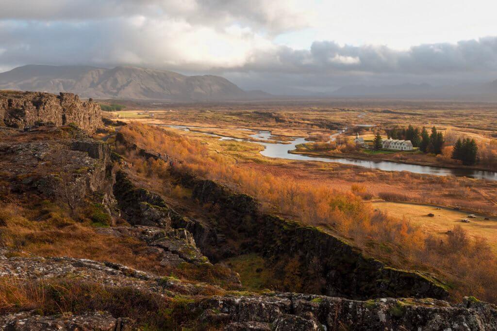 Thingvellir Nationaal Park IJsland Gouden cirkel