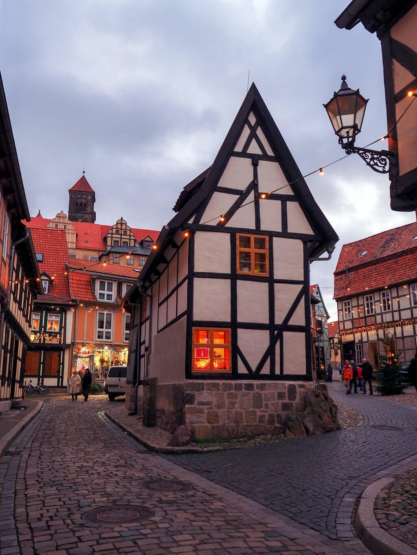 Quedlinburg oude stad straat