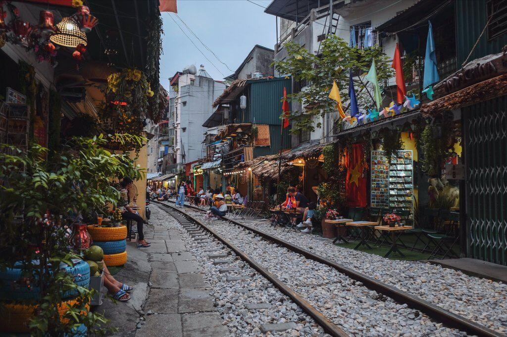 Hanoi bezienswaardigheden Train Street
