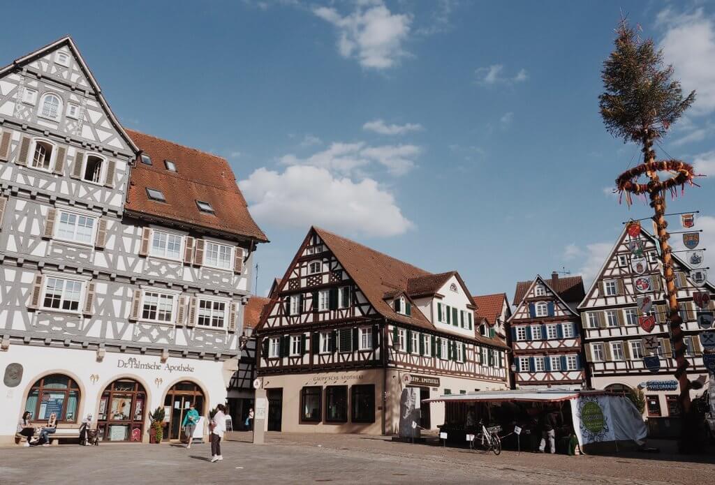 Marktplein in de oude binnenstad van Schorndorf