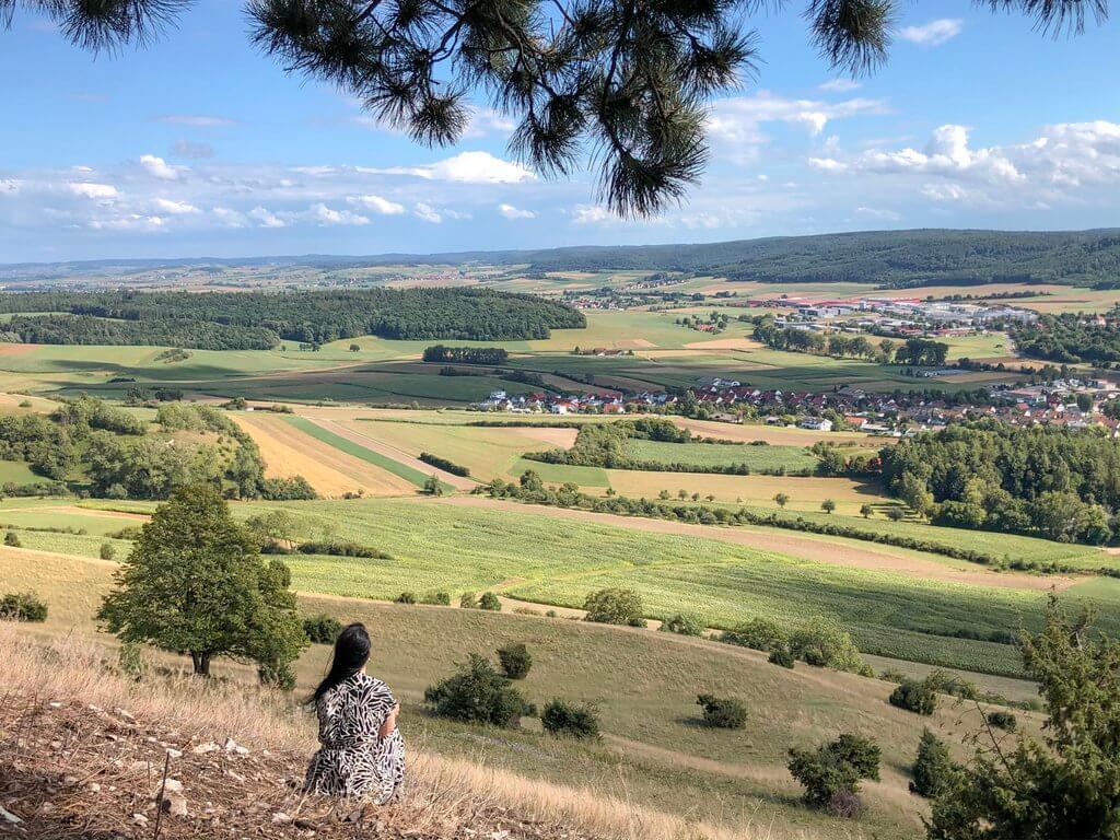 Uitzicht vanaf de Ipf Bopfingen Ostalb