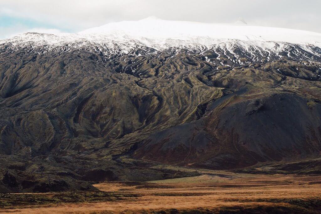 Vulkaan Snaefellsjokull IJsland