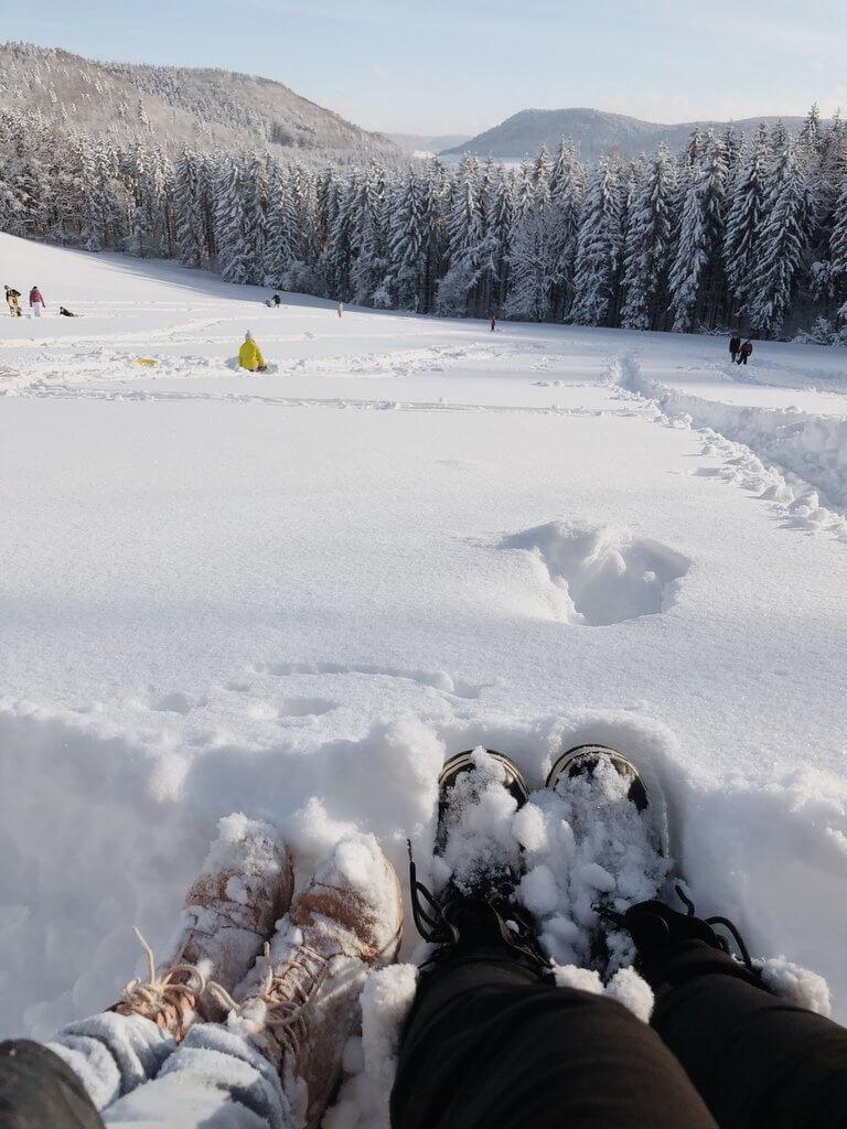 Breek in de sneeuw