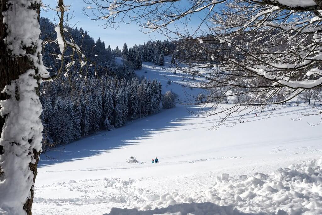 Winterlandschap van de Schwäbische Alb