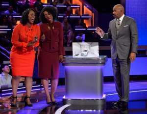 Pink Rubber Tires creators - the Pruitte Sisters - with Steve Harvey on Steve Harvey's Funderdome