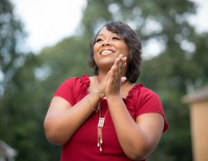Domestic violence survivor Maleeka Holloway
