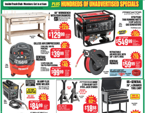 Harbor Freight Tools black friday ad scan - page 3