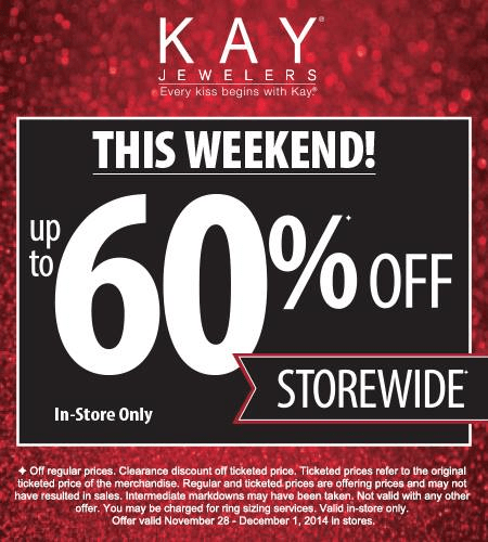 Kay Jewelers black friday ad scan - page 1