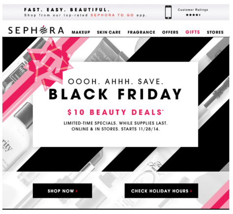 Sephora black friday ad scan - page 1