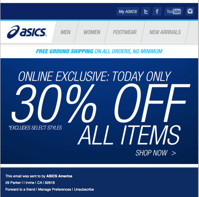 asics black friday 2014