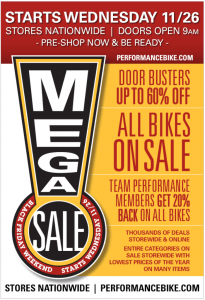 performance bike black friday ad scan - page 1