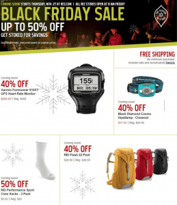 rei black friday ad - page 1