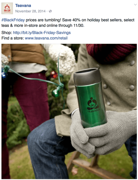 Teavana black friday ad scan - page 1