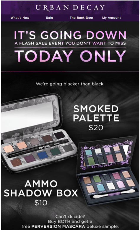 Urban Decay black friday ad scan - page 1