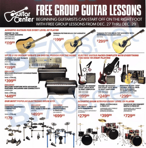 guitar center black friday ad scan - page 2