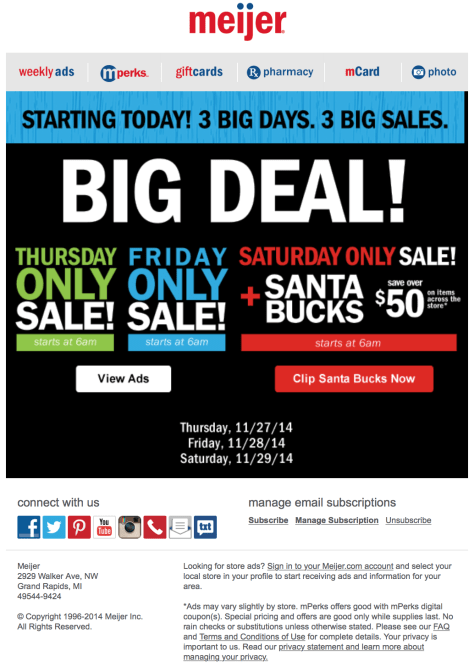 meijer black friday ad scan - page 1