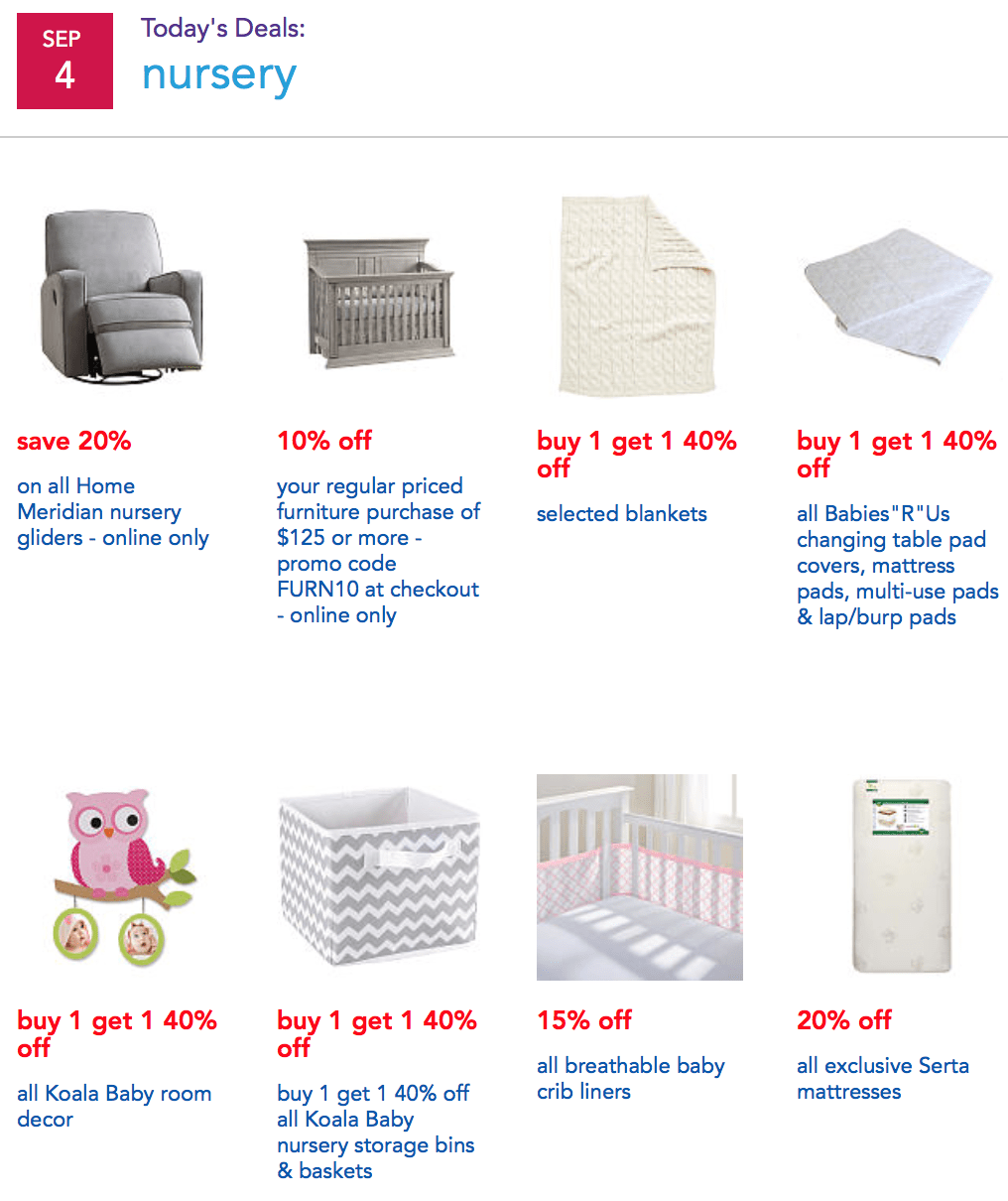 Crib thanksgiving sale - Here Are Some Of The Highlighted Deals From This Year S Labor Day Sale At Babies R Us