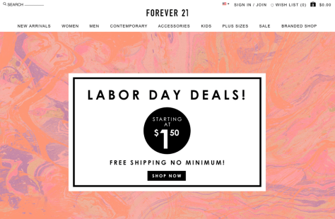 Forever 21 Labor Day Sale 2015 - Page 1