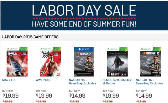 Gamestop Labor Day Sale 2017 Blacker Friday