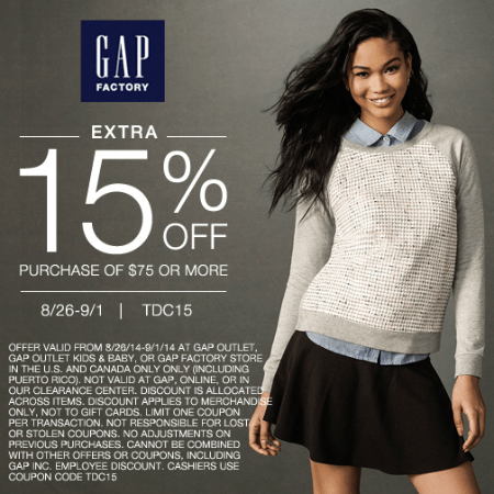 Gap Labor Day Sale - Page 1