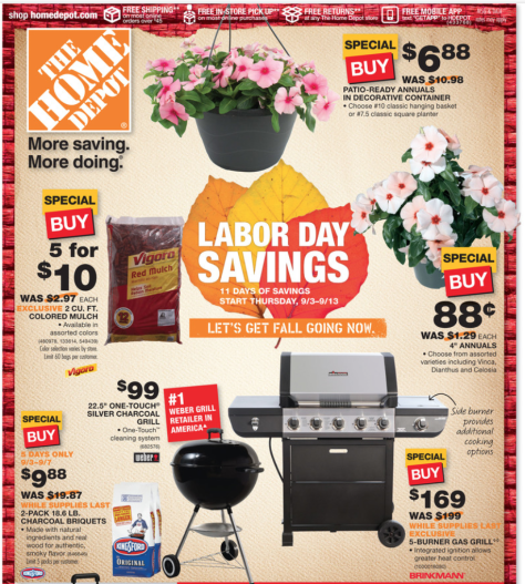 Home Depot Labor Day Sale 2015 - Page 1