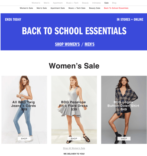 Urban Outfitters Labor Day Sale 2015 - Page 1