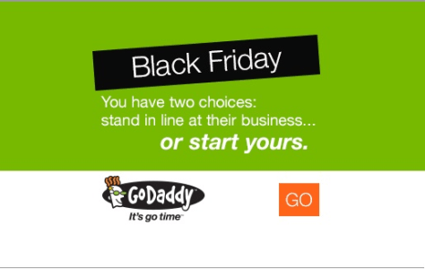 GoDaddy Black Friday Ad - Page 1