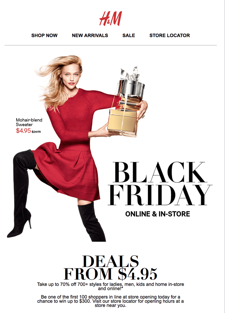 The H&M Black Friday Sales, which don't require my presence to shop, are much more my speed. In the spirit of true holiday generosity, H&M launched their yearly sales earlier this week.
