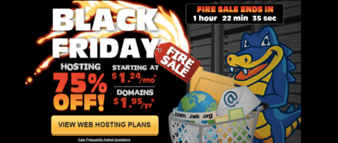 Hostgator Black Friday Ad - Page 1