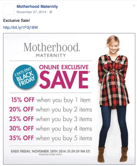 Motherhood Maternity Black Friday Ad - Page 1