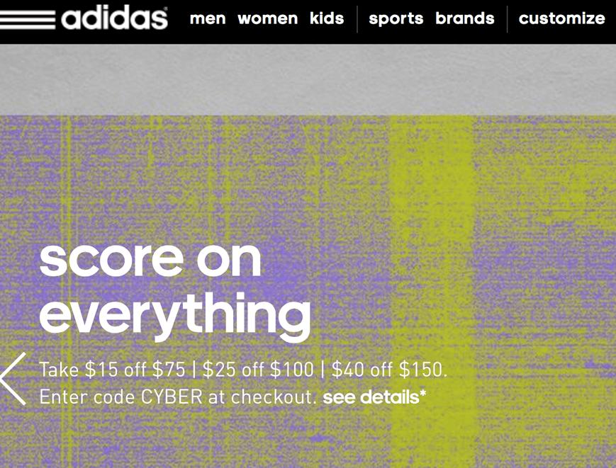 cyber monday adidas
