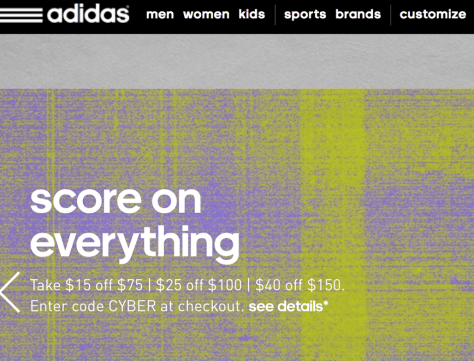 Adidas Cyber Monday 2015 Ad - Page 1