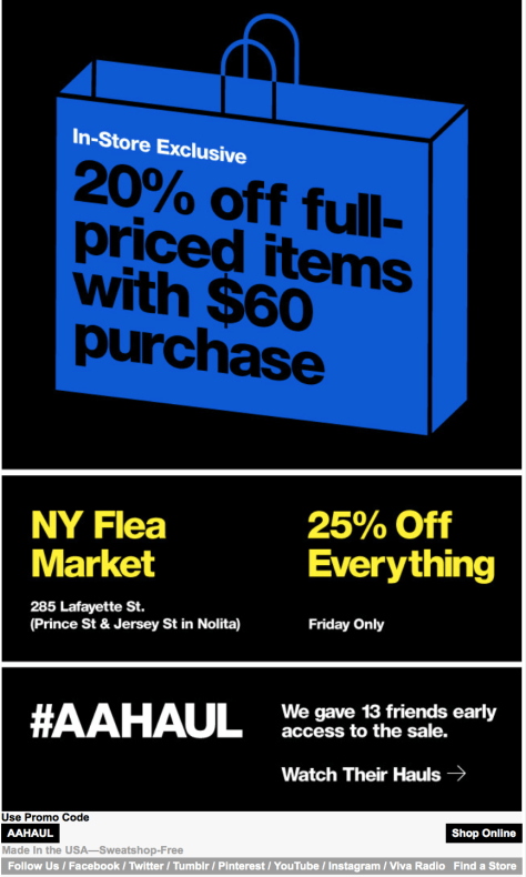 American Apparel Black Friday Ad - Page 2