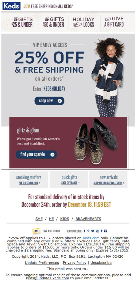 Keds Black Friday Ad Scan - Page 1