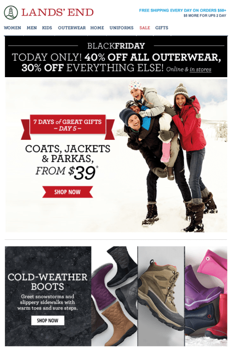 Lands End Black Friday Ad - Page 1