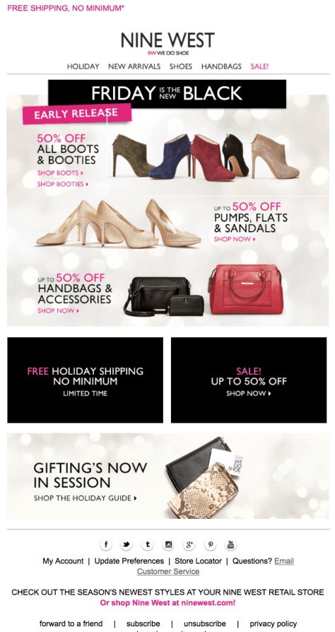 Nine West Black Friday Ad - Page 1