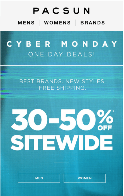 PacSun Cyber Monday Ad - Page 1
