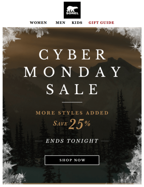 Sorel Cyber Monday Ad - Page 1