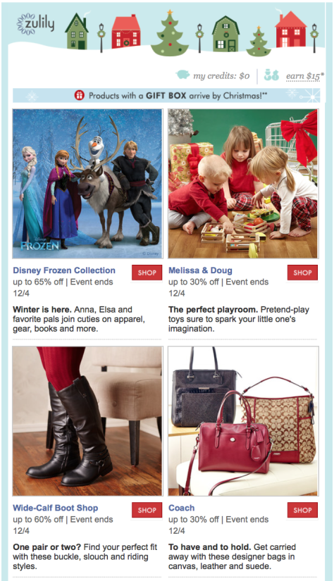Zulily Cyber Monday Ad - Page 1