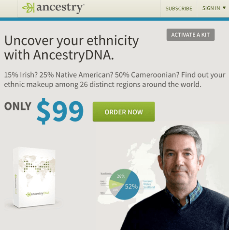 Ancestry Black Friday 2015 Ad - Page 1
