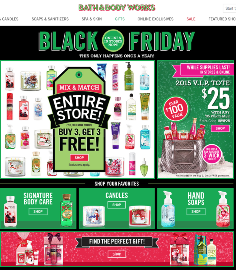 Bath and Boday Works Black Friday 2015 Ad - Page 1