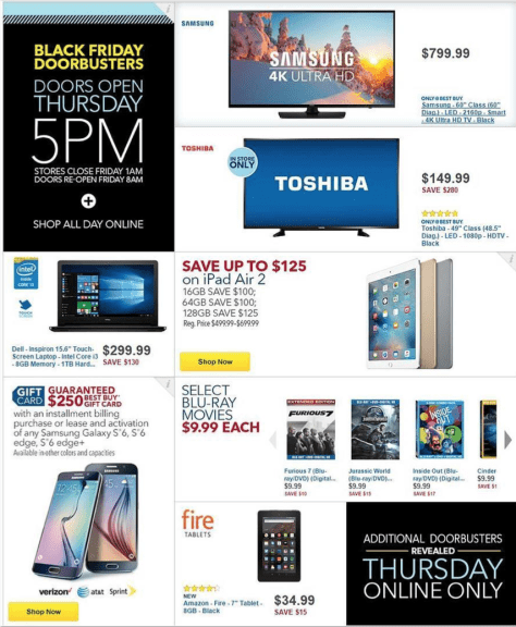 Best Buy Black Friday 2015 Ad - Page 1